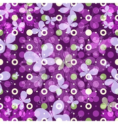 spring pattern with polka dots vector image vector image