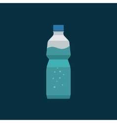 Water bottle plastic isolated on dark vector image