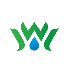 Waterdrop leaf ecology logo image vector