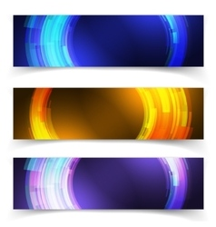 abstract blue colorful website header or banner vector image vector image