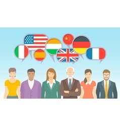 Foreign language school for adults flat vector image vector image