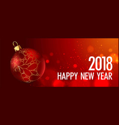 happy new year greeting card gold christmas vector image vector image