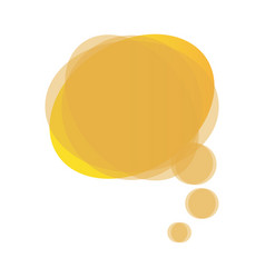 yellow round chat bubble icon vector image