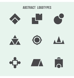 Abstract geometric logo set vector image vector image