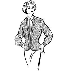 Beautiful fashionable girl vector image
