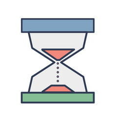 hourglass object to know the time vector image