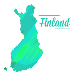 isolated finnish map vector image