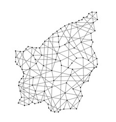 map of san marino from polygonal black lines vector image