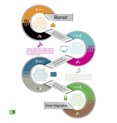 Modern Infographics template Design for business vector image vector image