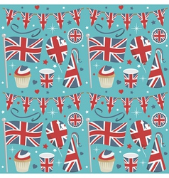 uk party pattern vector image vector image