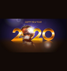 2020 happy newyear holiday design with disco vector