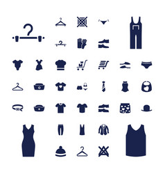 37 clothing icons vector