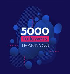 5000 followers banner design for social media vector
