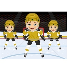 A young hockey team in uniform vector image