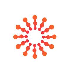 Abstract molecular nanotechnology sun connected vector