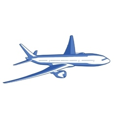 airplane flies straight vector image