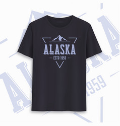 alaska state graphic t-shirt design typography vector image