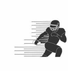 American footbal player silhouette isolated vector
