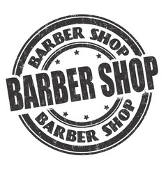 barber shop sign or stamp vector image
