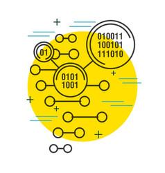 binary code digital technology background vector image
