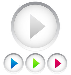 bright play buttons 4 colors vector image