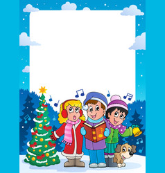 Christmas theme frame 9 vector