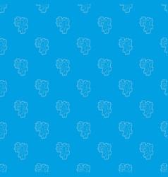cogwheels pattern seamless blue vector image