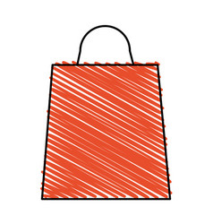 color crayon stripe bag for shopping vector image