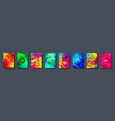 Colorful abstract geometric background liquid vector