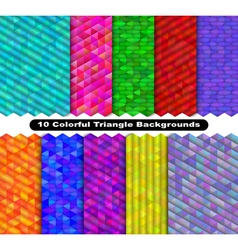 Colorful triangle background set vector image
