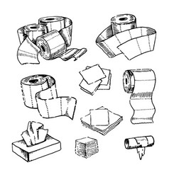 concept of toilet paper hand vector image