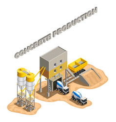concrete plant area composition vector image