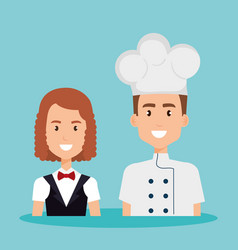 couple of professional workers vector image
