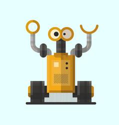 Cute vintage robot technology machine future vector
