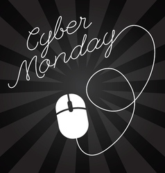 Cyber Monday lettering design sales Big sale vector image