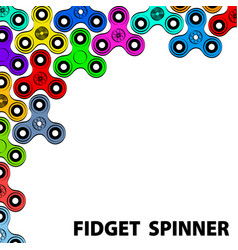 fashionable greeting card with fidget spinner vector image