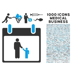 Father Calendar Day Icon With 1000 Medical vector