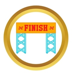 Finish race gate icon vector