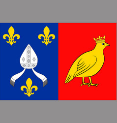 Flag of charente-maritime in nouvelle-aquitaine vector