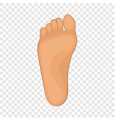 Foot icon cartoon style vector