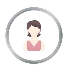 Girl with earrings icon cartoon Single avatar vector