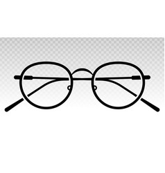 Glasses eyeglasses or spectacles flat icon vector