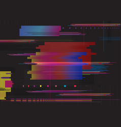 Glitch abstract background glitched horizontal vector