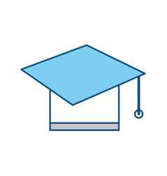 Graduation hat symbol vector