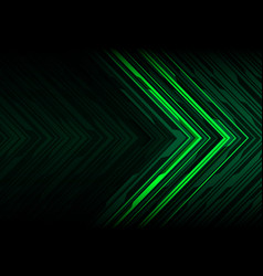 green light black line arrow polygon futuristic vector image