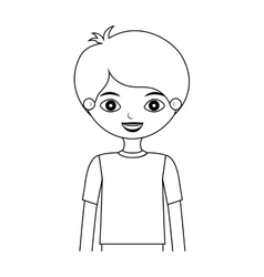 half body child silhouette with t-shirt vector image