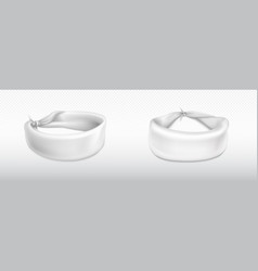Headband bandana for head or wrist white cloth vector