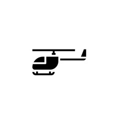 helicopter icon solid vehicle and transportation vector image