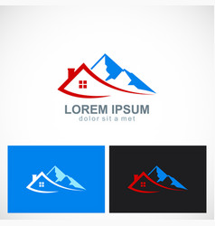 house mountain travel logo vector image