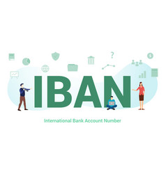 Iban international bank account number concept vector